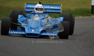World © Octane Photographic Ltd/ Carl Jones. OSS F1 Demos. Snetterton. Hesketh 308E. Digital Ref: 0719cj7d0200