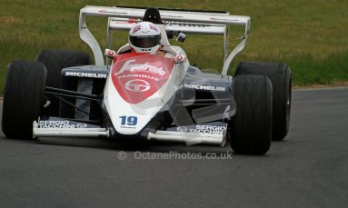World © Octane Photographic Ltd/ Carl Jones. OSS F1 Demos. Snetterton. Alastair Davison's Toleman TG184, ex Ayrton Senna. Digital Ref: 0719cj7d0231