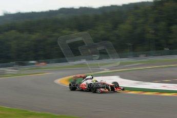 World © Octane Photographic Ltd. F1 Belgian GP - Spa - Francorchamps. Friday 23rd August 2013. Practice 1. Vodafone McLaren Mercedes MP4/28 - Sergio Perez . Digital Ref :0784lw1d4743