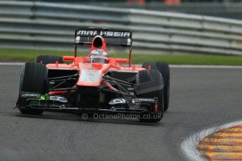 World © Octane Photographic Ltd. F1 Belgian GP - Spa - Francorchamps. Friday 23rd August 2013. Practice 1. Marussia F1 Team MR02 - Jules Bianchi. Digital Ref : 0784lw1d7198