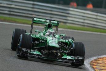 World © Octane Photographic Ltd. F1 Belgian GP - Spa - Francorchamps. Friday 23rd August 2013. Practice 1. Caterham F1 Team CT03 – Heikki Kovalainen. Digital Ref : 0784lw1d7207