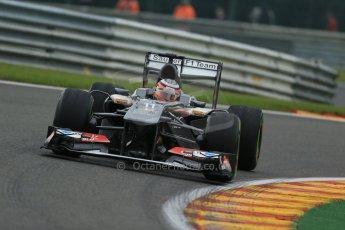 World © Octane Photographic Ltd. F1 Belgian GP - Spa - Francorchamps. Friday 23rd August 2013. Practice 1. Sauber C32 - Nico Hulkenberg. Digital Ref : 0784lw1d7212