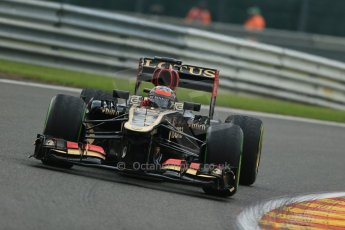World © Octane Photographic Ltd. F1 Belgian GP - Spa - Francorchamps. Thursday. 25th July 2013. Practice 1. Lotus F1 Team E21 - Kimi Raikkonen. Digital Ref : 0784lw1d7255