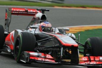 World © Octane Photographic Ltd. F1 Belgian GP - Spa - Francorchamps. Friday 23rd August 2013. Practice 1. Vodafone McLaren Mercedes MP4/28 - Jenson Button. Digital Ref : 0784lw1d7293
