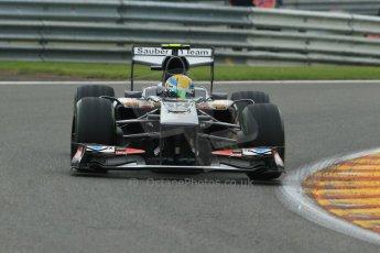 World © Octane Photographic Ltd. F1 Belgian GP - Spa - Francorchamps. Friday 23rd August 2013. Practice 1. Sauber C32 - Esteban Gutierrez. Digital Ref : 0784lw1d7345
