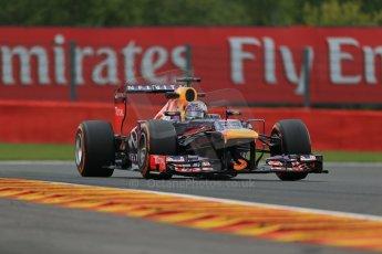 World © Octane Photographic Ltd. F1 Belgian GP - Spa - Francorchamps. Friday 23rd August 2013. Practice 1. Infiniti Red Bull Racing RB9 - Sebastian Vettel. Digital Ref : 0784lw1d7510