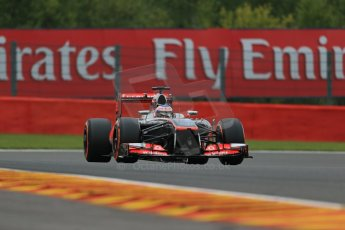 World © Octane Photographic Ltd. F1 Belgian GP - Spa - Francorchamps. Friday 23rd August 2013. Practice 1. Vodafone McLaren Mercedes MP4/28 - Jenson Button. Digital Ref : 0784lw1d7515