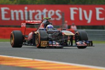 World © Octane Photographic Ltd. F1 Belgian GP - Spa - Francorchamps. Friday 23rd August 2013. Practice 1. Scuderia Toro Rosso STR 8 - Daniel Ricciardo. Digital Ref : 0784lw1d7535