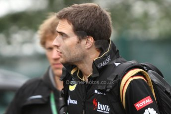 World © Octane Photographic Ltd. Belgian GP Friday 23rd August 2013 paddock. Jerome d'Ambrosio, Lotus F1 Team reserve driver. Digital Ref : 0783cb7d1681