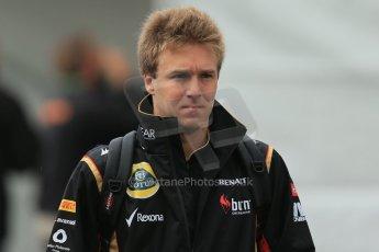 World © Octane Photographic Ltd. Belgian GP Friday 23rd August 2013 paddock. Davide Valsecchi, Lotus F1 Team reserve driver. Digital Ref : 0783lw1d7162