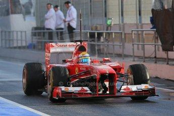 World © Octane Photographic Ltd. Formula 1 Winter testing, Barcelona – Circuit de Catalunya, 28th February 2013. Ferrari F138 – Felipe Massa. Digital Ref: 0581lw1d6855