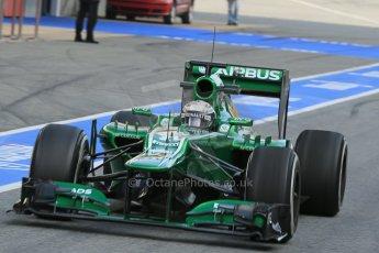 World © Octane Photographic Ltd. Formula 1 Winter testing, Barcelona – Circuit de Catalunya, 2nd March 2013. Caterham CT03, Giedo van der Garde. Digital Ref: 0583lw1d8868