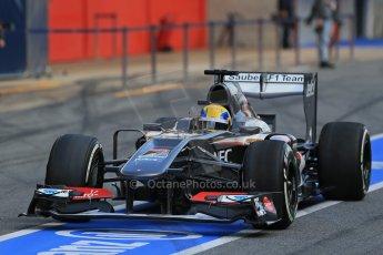 World © Octane Photographic Ltd. Formula 1 Winter testing, Barcelona – Circuit de Catalunya, 2nd March 2013. Sauber C32, Esteban Gutierrez. Digital Ref: 0583lw1d8922
