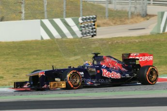 World © Octane Photographic Ltd. Formula 1 Winter testing, Barcelona – Circuit de Catalunya, 2nd March 2013. Toro Rosso STR8, Jean-Eric Vergne. Digital Ref: 0583lw1d9207