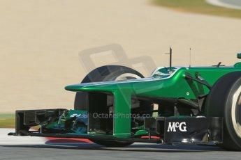 World © Octane Photographic Ltd. Formula 1 Winter testing, Barcelona – Circuit de Catalunya, 2nd March 2013. Caterham CT03, Giedo van der Garde. Digital Ref: 0583lw1d9528