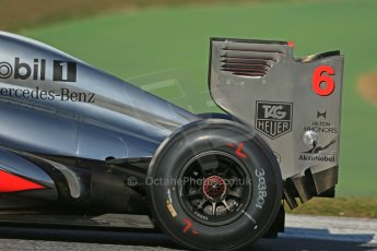 World © Octane Photographic Ltd. Formula 1 Winter testing, Barcelona – Circuit de Catalunya, 2nd March 2013. Vodafone McLaren Mercedes MP4/28. Sergio Perez. Digital Ref: 0583lw1d9863