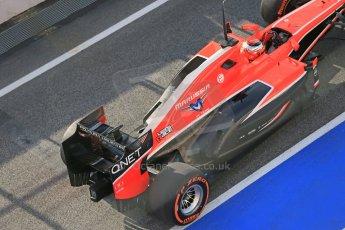 World © Octane Photographic Ltd. Formula 1 Winter testing, Barcelona – Circuit de Catalunya, 3rd March 2013. Marussia MR02, Jules Bianchi. Digital Ref: 0584lw1d0182