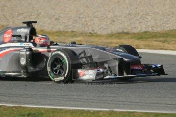 World © Octane Photographic Ltd. Formula 1 Winter testing, Barcelona – Circuit de Catalunya, 3rd March 2013. Sauber C32, Nico Hulkenberg. Digital Ref: 0584lw1d0522