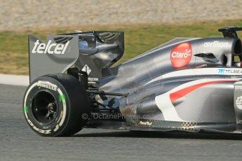 World © Octane Photographic Ltd. Formula 1 Winter testing, Barcelona – Circuit de Catalunya, 3rd March 2013. Sauber C32, Nico Hulkenberg. Digital Ref: 0584lw1d0592
