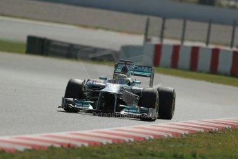 World © Octane Photographic Ltd. Formula 1 Winter testing, Barcelona – Circuit de Catalunya, 3rd March 2013. Mercedes AMG Petronas  F1 W04 – Nico Rosberg. Digital Ref: 0584lw1d0759