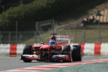 World © Octane Photographic Ltd. Formula 1 Winter testing, Barcelona – Circuit de Catalunya, 3rd March 2013. Ferrari F138 – Fernando Alonso. Digital Ref: 0584lw1d0864