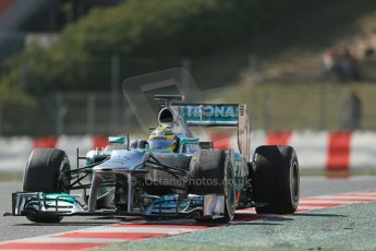 World © Octane Photographic Ltd. Formula 1 Winter testing, Barcelona – Circuit de Catalunya, 3rd March 2013. Mercedes AMG Petronas  F1 W04 – Nico Rosberg. Digital Ref: 0584lw1d1051
