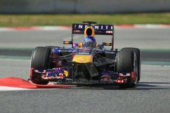 World © Octane Photographic Ltd. Formula 1 Winter testing, Barcelona – Circuit de Catalunya, 3rd March 2013. Infiniti Red Bull Racing RB9. Sebastian Vettel. Digital Ref: 0584lw1d1096