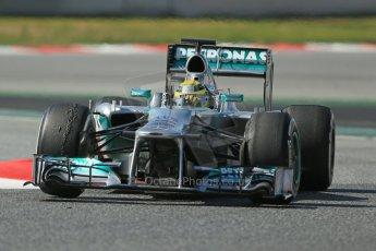World © Octane Photographic Ltd. Formula 1 Winter testing, Barcelona – Circuit de Catalunya, 3rd March 2013. Mercedes AMG Petronas  F1 W04 – Nico Rosberg. Digital Ref: 0584lw1d1147