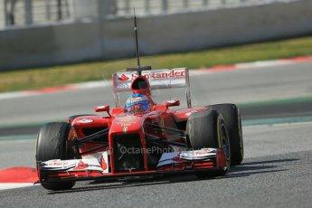 World © Octane Photographic Ltd. Formula 1 Winter testing, Barcelona – Circuit de Catalunya, 3rd March 2013. Ferrari F138 – Fernando Alonso. Digital Ref: 0584lw1d1246
