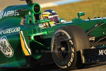 World © Octane Photographic Ltd. Formula 1 Winter testing, Jerez, 8th February 2013. Caterham CT03, Charles Pic. Digital Ref: 0574cb7d7342