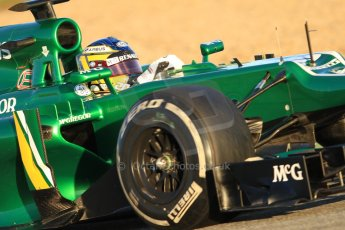 World © Octane Photographic Ltd. Formula 1 Winter testing, Jerez, 8th February 2013. Caterham CT03, Charles Pic. Digital Ref: 0574cb7d7361