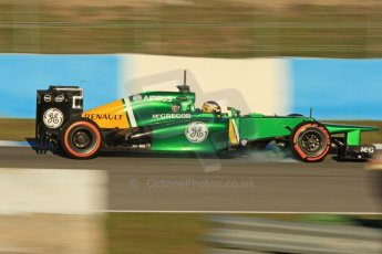 World © Octane Photographic Ltd. Formula 1 Winter testing, Jerez, 8th February 2013. Caterham CT03, Charles Pic. Digital Ref: 0574cb7d7500
