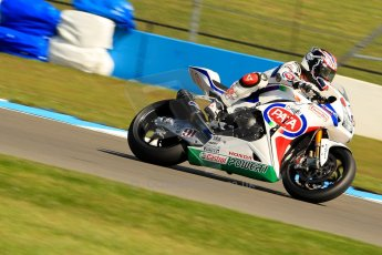 World © Octane Photographic Ltd. World Superbikes (SBK) European GP – Donington Park – Free Practice. Pata Honda World Superbike – Honda CBR-1000RR – Leon Haslam. Saturday 25th May 2013. Digital Ref : 0698ce1d3270