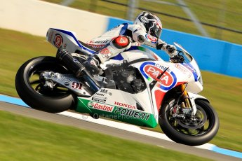 World © Octane Photographic Ltd. World Superbikes (SBK) European GP – Donington Park – Free Practice. Pata Honda World Superbike – Honda CBR-1000RR – Leon Haslam. Saturday 25th May 2013. Digital Ref : 0698ce1d3271
