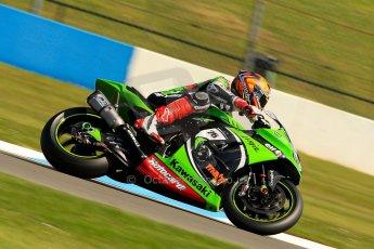 World © Octane Photographic Ltd. World Superbikes (SBK) European GP – Donington Park – Free Practice. Kawasaki Racing Team – Kawasaki ZX-10R – Loris Baz. Saturday 25th May 2013. Digital Ref : 0698ce1d3313