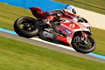 World © Octane Photographic Ltd. World Superbikes (SBK) European GP – Donington Park – Free Practice. Team Ducati Alstare – Ducati 1199 Panigale R – Carlos Checa. Saturday 25th May 2013. Digital Ref : 0698ce1d3370