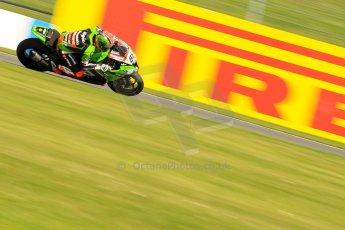 World © Octane Photographic Ltd. World Superbikes (SBK) European GP – Donington Park – Free Practice. Kawasaki Racing Team – Kawasaki ZX-10R – Tom Sykes. Saturday 25th May 2013. Digital Ref : 0698ce1d3558