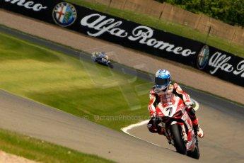 World © Octane Photographic Ltd. World Superbikes (SBK) European GP – Donington Park – Qualifying Practice. Team Ducati Alstare – Ducati 1199 Panigale R – Carlos Checa. Saturday 25th May 2013. Digital Ref :