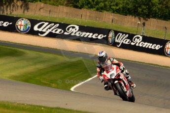 World © Octane Photographic Ltd. World Superbikes (SBK) European GP – Donington Park – Qualifying Practice. Team Ducati Alstare - Ducati 1199 Panigale R – Ayrton Badovini. Saturday 25th May 2013. Digital Ref :