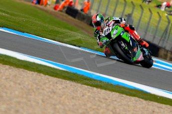 World © Octane Photographic Ltd. World Superbikes (SBK) European GP – Donington Park – Qualifying Practice. Kawasaki Racing Team – Kawasaki ZX-10R – Tom Sykes. Saturday 25th May 2013. Digital Ref :