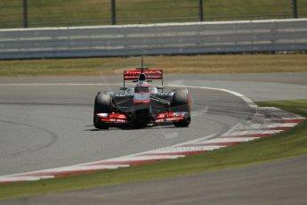 World © Octane Photographic Ltd. Formula 1 - Young Driver Test - Silverstone. Friday 19th July 2013. Day 3. Vodafone McLaren Mercedes MP4/28 – Gary Paffett. Digital Ref:0755lw1d0149