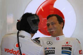 World © Octane Photographic Ltd. Formula 1 - Young Driver Test - Silverstone. Friday 19th July 2013. Day 3. Vodafone McLaren Mercedes MP4/28 – Gary Paffett. Digital Ref: 0755lw1d9784