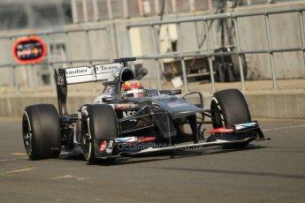 World © Octane Photographic Ltd. Formula 1 - Young Driver Test - Silverstone. Thursday 18th July 2013. Day 2. Sauber C32 - Robin Frijns. Digital Ref : 0753lw1d6013