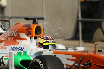 World © Octane Photographic Ltd. Formula 1 - Young Driver Test - Silverstone. Thursday 18th July 2013. Day 2. Sahara Force India VJM06  - James Calado. Digital Ref : 0753lw1d6024