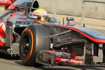 World © Octane Photographic Ltd. Formula 1 - Young Driver Test - Silverstone. Thursday 18th July 2013. Day 2. Vodafone McLaren Mercedes MP4/28 - Oliver Turvey. Digital Ref : 0753lw1d6076