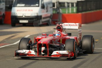 World © Octane Photographic Ltd. Formula 1 - Young Driver Test - Silverstone. Thursday 18th July 2013. Day 2. Scuderia Ferrari F138 - Davide Rigon. Digital Ref : 0753lw1d6118