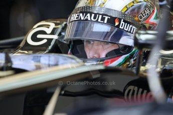 World © Octane Photographic Ltd. Formula 1 - Young Driver Test - Silverstone. Thursday 18th July 2013. Day 2. Lotus F1 Team E21 - Davide Valsecchi. Digital Ref : 0753lw1d6151