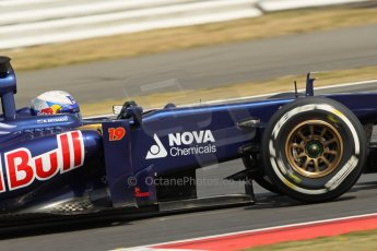 World © Octane Photographic Ltd. Formula 1 - Young Driver Test - Silverstone. Thursday 18th July 2013. Day 2. Scuderia Toro Rosso STR8 - Daniel Ricciardo. Digital Ref : 0753lw1d6267