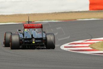 World © Octane Photographic Ltd. Formula 1 - Young Driver Test - Silverstone. Thursday 18th July 2013. Day 2. Vodafone McLaren Mercedes MP4/28 - Oliver Turvey. Digital Ref : 0753lw1d6336