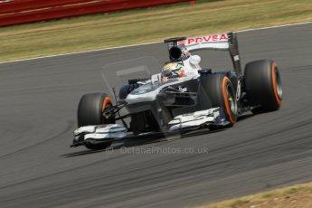 World © Octane Photographic Ltd. Formula 1 - Young Driver Test - Silverstone. Thursday 18th July 2013. Day 2. Williams FW35 - Pastor Maldonado. Digital Ref : 0753lw1d6385